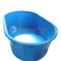 bak fiber oval 135x80x50/bak fiber kolam/perlengkapan kolam