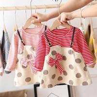 Dress anak bayi 2 in 1 Import, Dress anak lengan panjang,dress A-line