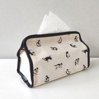 Tissue Cover Cats Natural Canvas Living