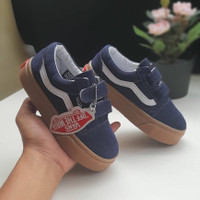 Sepatu Anak Vans Old Skool Blue Gum Premium BNIB