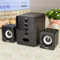Speaker Bass Aktif Mini Subwoofer USB Stereo 2.1 Komputer Laptop Sada