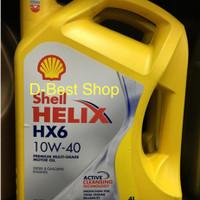 oli shell helix HX6 PENGGANTI HX7 sae 10w-40 galon 4 liter