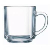 6 Pcs Gelas Kopi Beling Polos/gelas teh/gelas kaca gagang