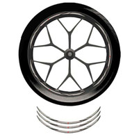 Wheel Rim Sticker(Sricker Velg)Yelow black - Honda Sporty Velg ring 17