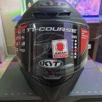 KYT TT Course Plain Matte Black/Helm KYT/TT Course Black Doff