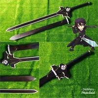 Pedang Cosplay Kirito SAO Elucidator Sword Art Online Wood Ver