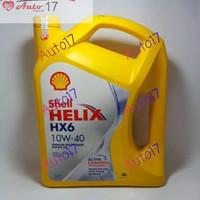 OLI SHELL HELIX HX6 10W40 SN PLUS ORIGINAL RESMI