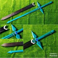 Pedang Cosplay Kirito SAO Dark Repulser Sword Art Online Wood Ver