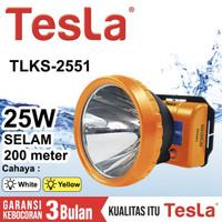 Senter Kepala Selam Tesla 25 Watt TLKS 2551 - Cahaya Putih / Kuning