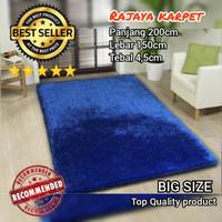 Surpet bulu empuk tebal 4,5cm uk200x150 / karpet bulu lembut - Maroon