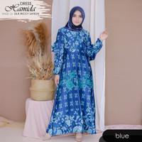 Baju Gamis Wanita Syari Muslimah Lux Hamil Menyusui Hamida Blue