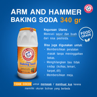 Pure Baking Soda Arm & Hammer Shaker BPOM Original uk. 12 oz / 340gr