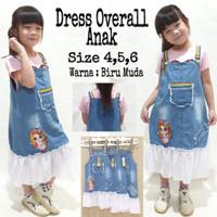 [[ANGIE]] Termurah Dress Overall Tutu Denim Anak, size 4,5,6