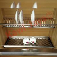 Rak Piring Gantung Huben Lemari Kitchen Set SS Stainless Steel 60cm