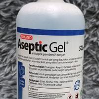 hand sanitizer aseptic gel 500 ml segel onemed