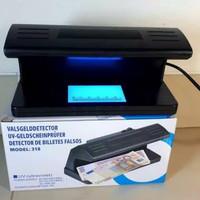 Money Detector Model 318 Biru Lampu UV Deteksi Uang Palsu Pengecek Uan