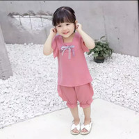 Casual baju anak perempuan Import, 1set baju anak cewek import