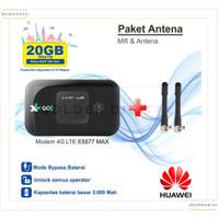 Mifi 4G Huawei E5577 Max 3000mAh Unlock Free XL Go izi 30 gb+antena