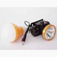 SENTER KEPALA TESLA 12W Putih dimmer +lampu DC +lensa kuning TLK 1252B