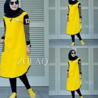 kaos tunik baju atasan muslim panjang blouse bluss long casual santai