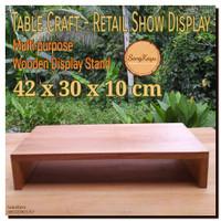 Wooden multi-purpose rack display 42x30x10 cm table craft rak kayu