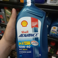 Oli Mesin Shell Matic AX7 1 liter 10 40 10w40 Sbthetic Nmax Aerox