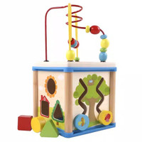Wooden Busy Box - Mainan Edukasi Motorik Bayi / Balita Bahan Kayu