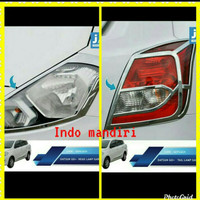 paket garnish lampu depan Dan belakang Mobil Datsun go chrome