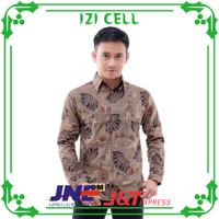 baju kemeja batik pria lengan panjang pekalongan seragaman M L XL XXL