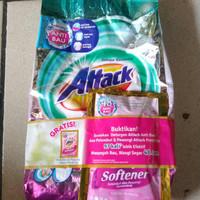 Attack Detergen Konsentrat Bubuk Plus Softener 800 gr