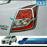 garnish list cover lampu depan Datsun go Chrome