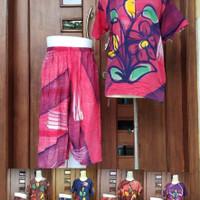 baju tidur stelan kulot batik