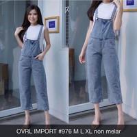Overall Jeans Wanita Ovrl Import 976 Bf Baju Kodok
