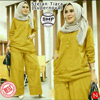 SMP STELAN TIARA (XL 7 wrna) Stelan Baju Gamis & Celana Panjang Wanita