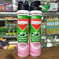 Anti Nyamuk Lalat dan Kecoak Baygon Wangi Tea Blossom 600ml