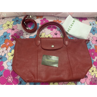 Tas Longchamp cuir red size S