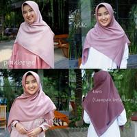hijab/kerudung/hijab Lebar Syar'i segiempat polos bahan Voal superfine