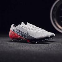 Nike Mercurial Vapor 13 Pro NJR Chrome Black Red Orbit I Sepatu Bola