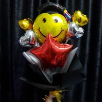 Balon Graduation/ Bouquet Balloon/ Bulat Pecel Balon/ Hadiah Wisuda