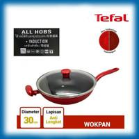 WOK PAN 30 cm + Lid TEFAL SO CHEF (INDUCTION HEATING)