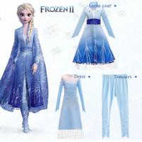 Baju Elsa Frozen 2 Princess Anak / Kostum Elsa Frozen 2 Baru 3pcs CG76