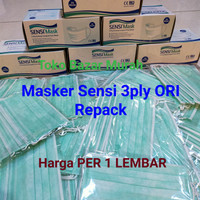 Masker Sensi Earloop 3ply Ori Repack per 5 Lembar dari box 50pcs