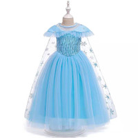 Elsa dress. Baju frozen 2 kostum costume anak biru blue gaun princess