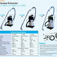 Vacum extractor 30 Liter / mesin vacuum extractor / carpet cleaner
