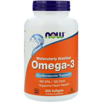 now foods omega 3 180 EPA 120 DHA fish oil 200 tablet