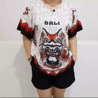BAJU BARONG BALI RAYON PREMIUM FIT TO XXL - Merah