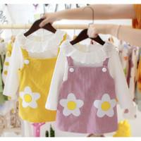 dress anak perempuan import,baju kodok rok,dress 1set dengan dalaman