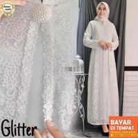 Gamis BRUKAT Putih polos Jumbo Baju Lebaran Pesta Umroh Haji