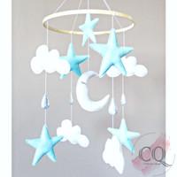 Mainan Gantungan Box Bayi Bulan Bintang B - Hanging Baby Crib Mobile