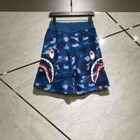 Celana pendek bape side shark blue camo